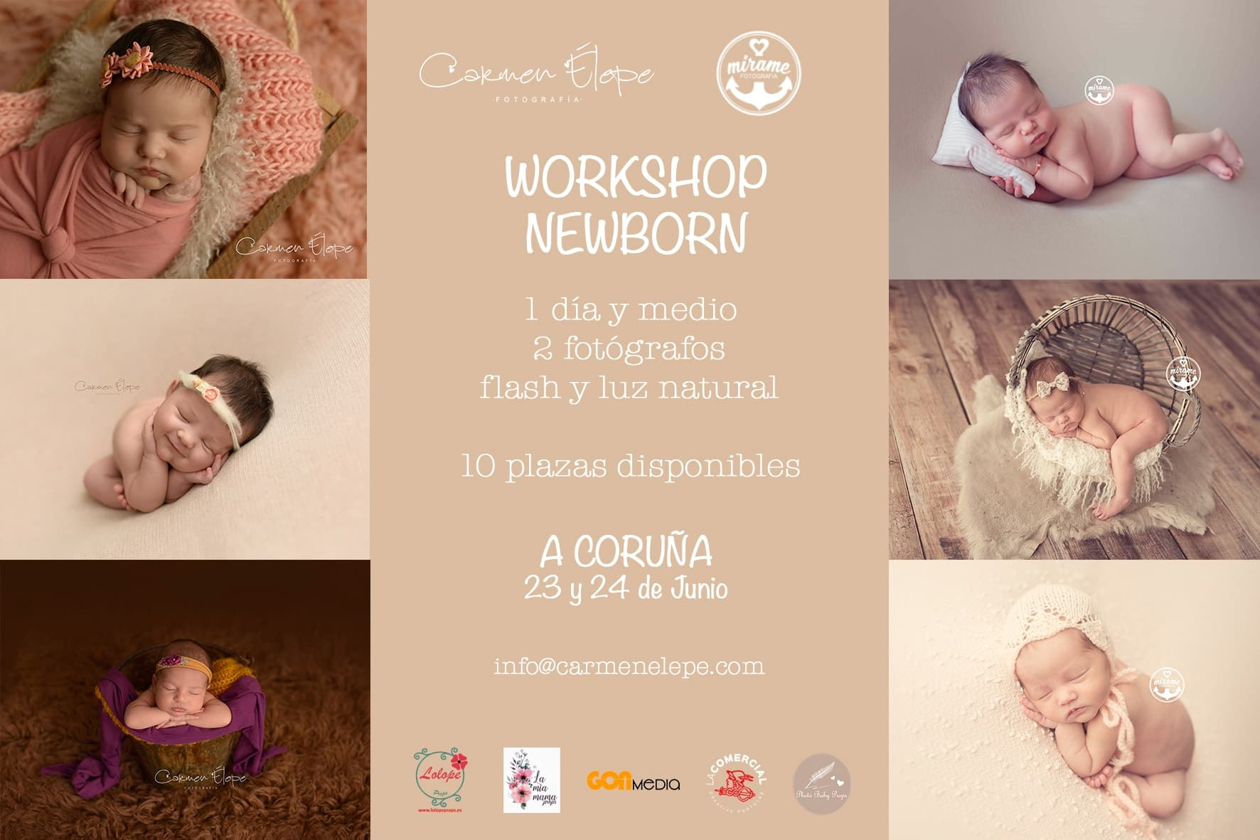 workshop fotografia newborn espana galicia a coruna carmen elepe mirame fotografia