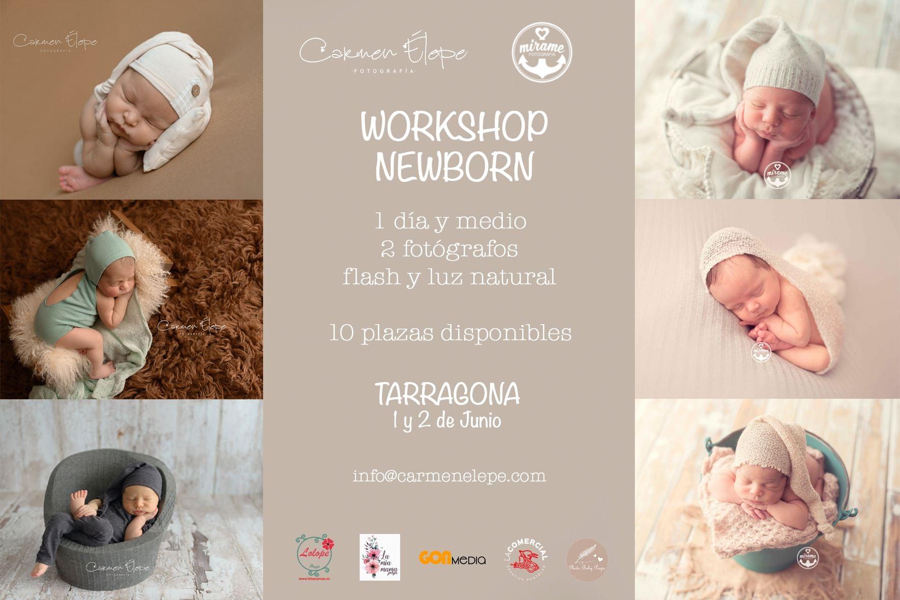 workshop fotografia newborn espana tarragona barcelona cataluna carmen elepe mirame fotografia